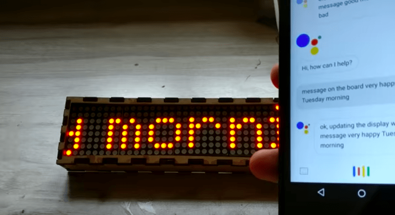 Technology Management Image: Google Message Display Diy - Profit From IoT