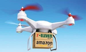Amazon using drones for delivery