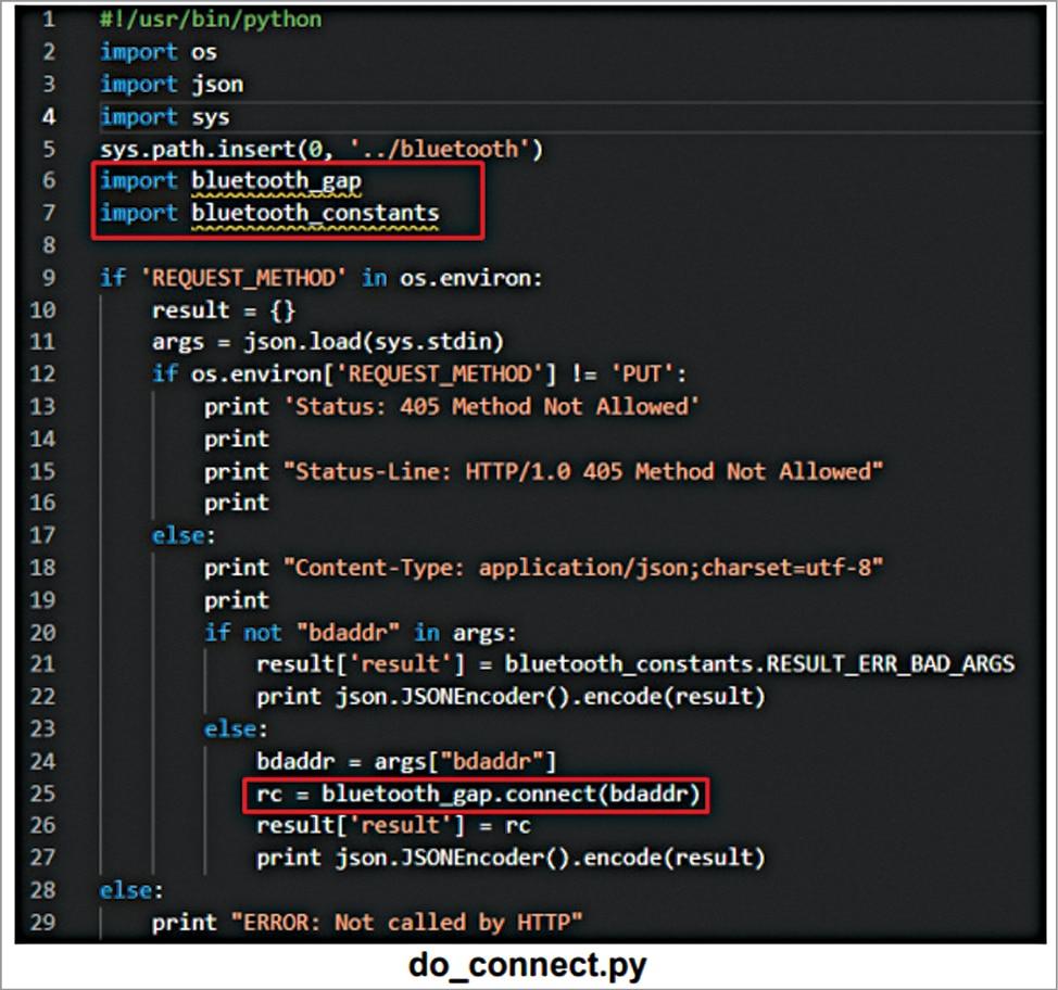 Adapter code